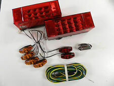 Submersible Trailer Rectangle LED Light kit, Stop Turn Tail, Optronics free ship