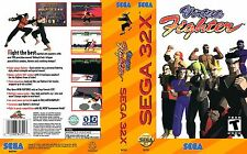 Virtua Fighter Sega 32x Replacement Box Art Case Insert Cover Scan