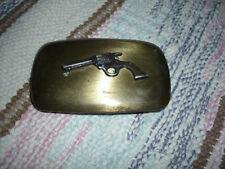 Vintage Chambers Belt Co. Colt 45 Design Belt Buckle