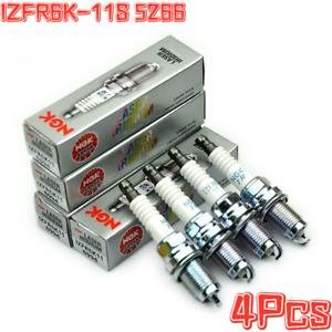 4Pcs Laser Iridium Spark Plugs IZFR6K-11S 5266 For Honda Civic DX EX LX 06-11