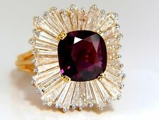 GIA Certified 5.08ct. Natural Ruby Diamonds ring 18kt Ballerina Prime