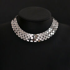 Punk Women Jewelry Silver Gold Tone Link Chain Chunky Choker Statement Necklace