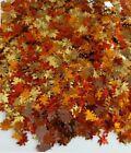 Red, Gold, & Orange Nail Maple Leaf Glitter Autumn Fall 3TSP/ 3000pcs/3 grams