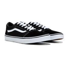 Vans Ward Lo Sneakers Size 3 Kids Black/White Suede/Canvas Shoes Skater Sneaks