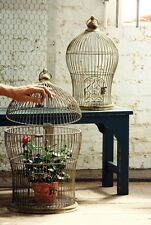 Vintage Style Nesting Wire Bird Cages Metal French Country Cottage Rustic Set/2