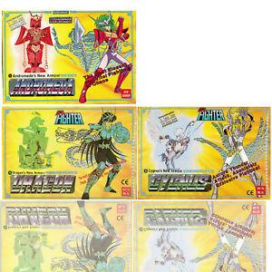 1987 Vintage Saint Seiya Sendo Seya Die-Cast Dragon Andromeda Cygnus 3Pk