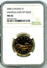 2006 CANADA $1 LOON NGC MS66 UNCIRCULATED LOONIE