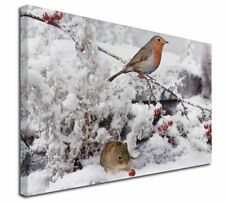 More details for snow mouse and robin print x-large 30