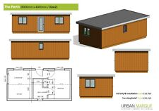 "1 Bed ""Perth"" Self build DIY House Frame Kit - Meets Mobile Home Rules"