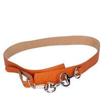 cintura donna VELVET 100 arancione pelle DT793