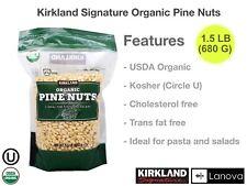 Organic Pine Nuts 1.5 lb Kirkland Signature Kosher Certified Trans Fat Free USDA