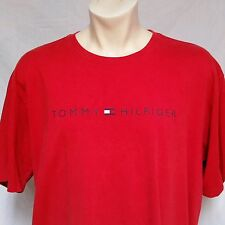 VTG Tommy Hilfiger T Shirt 90's Flag Box Logo Spell Out Sport Lotus Mens XL