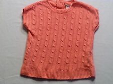 Crewcuts Salmon Pink Linen Cable Knit Sweater, 12