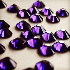 SWAROVSKI CRYSTALS 20 x SS34 PURPLE rhinestones diamantes #2088 GLUE ON flatback