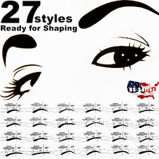 Eyebrow Shaper Shaping Stencil Grooming Charm Template Makeup Tool Kit 3-27Pcs