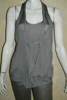 SITA MURT Taille M 38 40 très joli haut débardeur habillé gris top tee shirt T