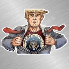 Super Trump Vinyle Décalque Autocollant Maga Potus Donald Républicain 2nd Gun
