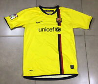 YOUTH VTG Men's 2008 FC Barcelona Sz XL 18-20Y Jersey Shirt yellow soccer shirt
