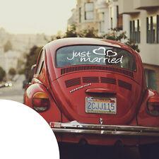 Just Married ✔ Auto Sticker für die Heckscheiben ✔ Hochzeit Aufkleber ✔ XXL ✔