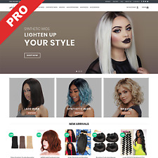 Hair Extensions Store Ready To Go Dropshipping Website Premium Business