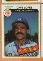 1980 Topps Burger King -  #28 Dave Lopes - Los Angeles Dodgers - nrmt/mint