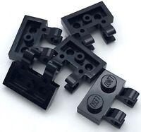 LEGO 12 BLACK BARRED WINDOWS WITH 1 X 4 X 3 WINDOW FRAMES
