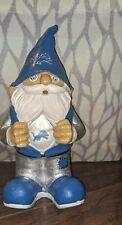 """Detroit Lions 11"""" Gnome Garden ~ Nfl Collectible"""