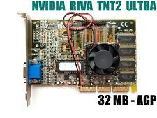 AGP vintage videocard Riva TNT2 ULTRA - 32MB - AXLE - 2000
