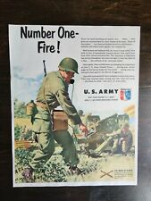 Vintage 1951 U.S. Army Original Full Page Color Ad - OC