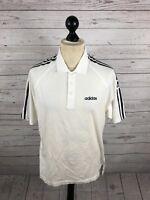 ADIDAS Retro Polo Shirt - Small - White - Great Condition - Men's