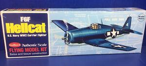 Guillows Flying Model Kit, Grumman F6F Hellcat U.S. Navy WW2 Fighter, Kit 503