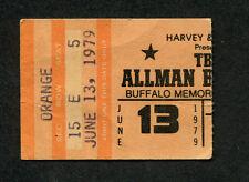 Original 1979 Allman Brothers concert ticket stub Buffalo Enlightened Rogues