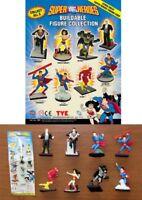 Set 8 Figure SUPER EROI DC COMICS 4cm Superman Batman Flash Wonder Woman Lex