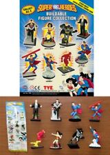 Set 8 Figure SUPER EROI DC COMICS 4cm Superman Batman Flash Wonder Woman Lex