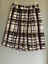 Banana Republic Womens Skirt Size 2 Multicolored Flare Ivory Brown