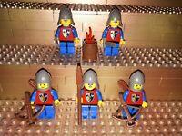 5 Lego Classic Castle Kreuzitter Löwenritter Figuren Minifig Waffen Lion R34
