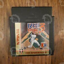Nes Tengen RBI Baseball 3 Nintendo NES Authentic/Cleaned/Tested