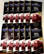 12 Ghirardelli-Premium Baking Bars 100% Cacao Unsweetened Chocolate, BB 12/21 H1