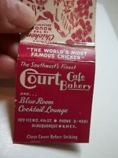 Matchbook Court Cafe Bakery Chicken In The Rough Phone 3-4501 Albuquerque NM #38