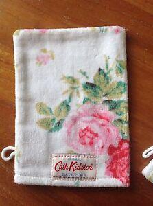 NEW⭐️CATH KIDSTON⭐️Antique Rose White Wash Mitt⭐️Bath Shower Face Cloth Towel
