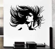 Wall Stickers Sexy Beautiful Girl Barbershop Beauty Salon Vinyl Decal (ig370)