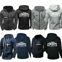 Dallas Cowboys Hoodie Football Hooded Sweatshirt Fleece Jacket Gift for Fans