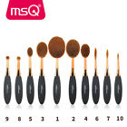 MSQ 10Pcs Oval Makeup Brushes Set Kit Multipurose Foundation Powder Brush Tools