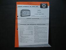 AWA  Transistor Radio 694 P  Service Data