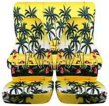 cool hawaii palm tree car seat covers front+rear fit 1997-2002 Jeep wrangler