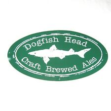 Dogfish Head Craft Brewed Ales Metal Sign 35.5 x 19.5 Beer Bar Sign Man Cave