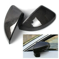 Pair Black Carbon Fiber Wing Side Mirror Cover Cap Casing For Audi A3 S3 RS3