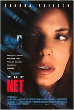 THE NET ORIGINAL ROLLED 2/S MOVIE POSTER 1995 DOUBLE SIDED SANDRA BULLOCK