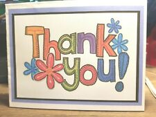 """Kitty'S Note Cards - Set of 10 + Envelopes- """"Crazy Daisies Thank You's"""""""