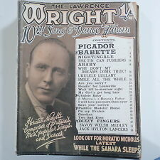 LAWRENCE WRIGHT`s 10th song & dance album , cover feat. horatio nicholls